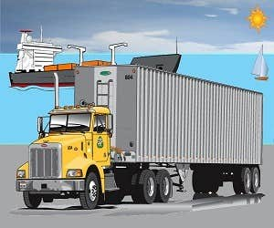 Play Cargo Truck Jigsaw