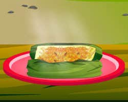 Play Fish Wrapped In Banana Leaf