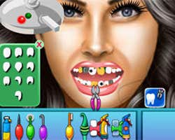 Play Megan Fox at Dentist