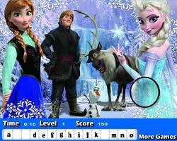 Play Frozen Hidden Letters