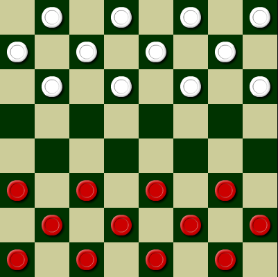 Play 3 in One Checkers