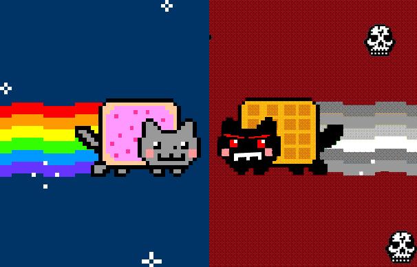 Play Nyan Kitty vs Tac Nayn.