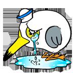 Seagull sad