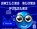 Play SMILIES BLUES PUZZLES