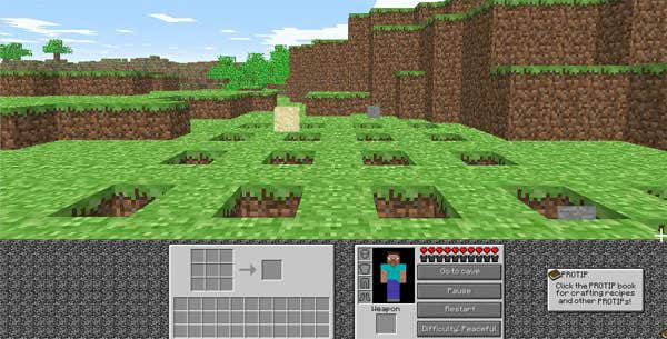 Play MineCraft - Whack A Mine