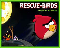 Play Rescue birds space edition