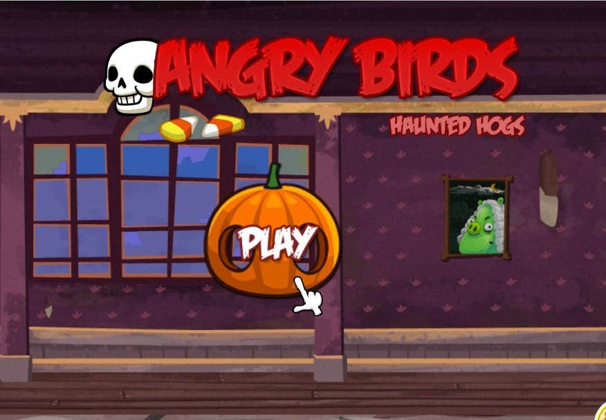 Play Angry Birds 2013 Haunted Hogs HD