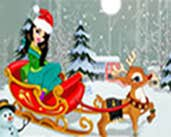 Play Christmas Girl with Reindeer Dress Up game