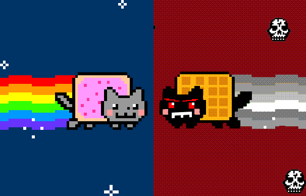 Play Nyan Kitty vs Tac Nayn.