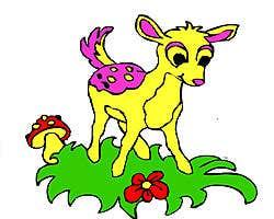 Play Cute Deer Coloring Game