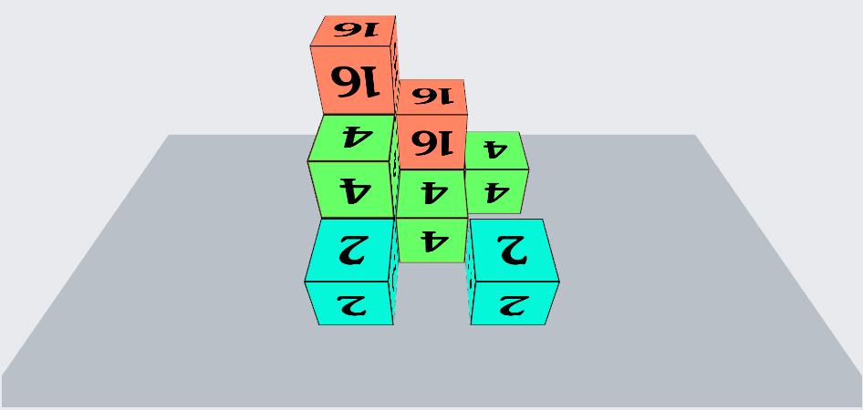 Play Cubiks 2048 -3D