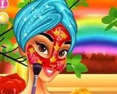 Play Princess Jasmine Flower Facial Makeover