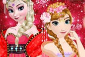 Play Elsa And Anna Chinese Dress Up