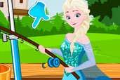 Play Elsa Learn Fishing