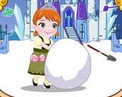 Play Baby Anna Make A Snowman