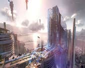 Play SCI-FI CITY IMAGE PUZZLE 3