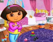 Play Dora Room Clean Up