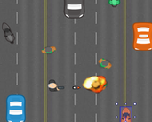 Play Top down Highway shooter with frickin zombies!