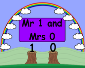 Play Mr 1 and Mrs 0