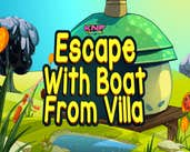 Play Knf Escape With Boat From Villa