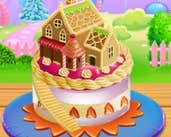 Play Doll House Cake Cooking