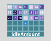 Play idleAmount - Unlock all the squares!